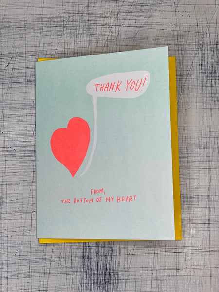 Greeting Card - Thank You (from the bottom of my heart)