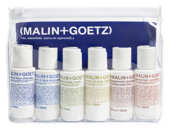 MALIN + GOETZ - travel ready essential toiletries kit