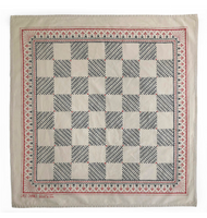 LAST CHANCE TEXTILES - Organic Cotton Checker Bandana (Sand)