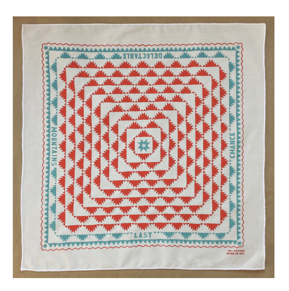 LAST CHANCE TEXTILES - Organic Cotton Delectable Bandana (Red)