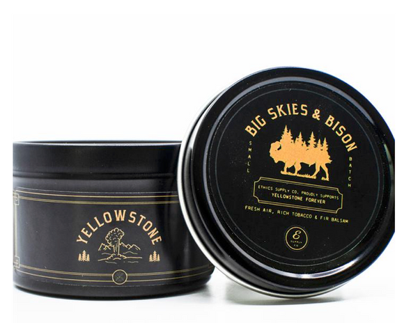 Big Skies and Bison (Travel Candle)