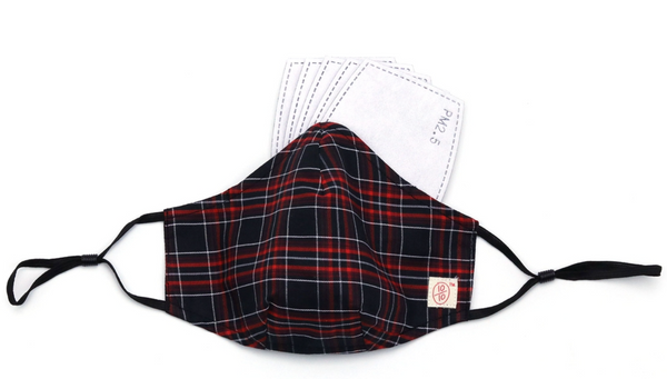 ten on ten - Face Mask with Nose Wire (Tartan Checks)