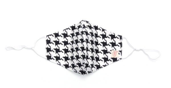 ten on ten - Face Mask with Nose Wire (Houndstooth Winter)