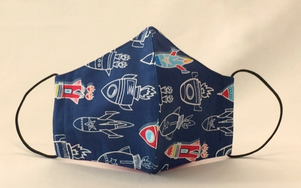 Itty Bitty Mask for Kids (Flying Rocket)