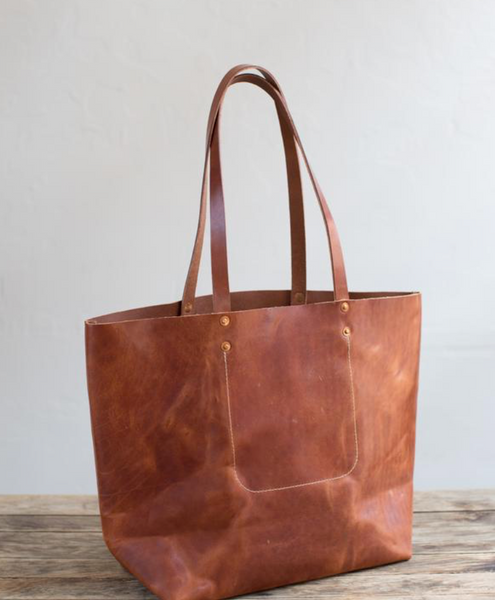 ARTIFACT - Harness Leather Tote (Bourbon)