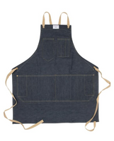 Crossback Tie Workshop Apron in Slate Duck Wax Canvas (Medium)