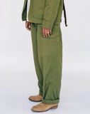 EAT DUST - Cargo Pants Rip-Stop Jungle Green