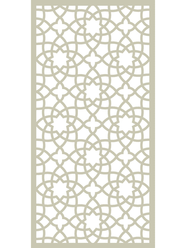 Large cream designer geometric garden screen by Screen With Envy