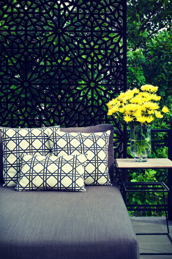 Garden privacy screen and trellis installed free standing for privacy, by Screen With Envy