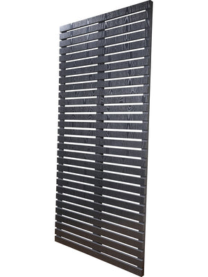 Slatted privacy screens by Screen With Envy in dark grey
