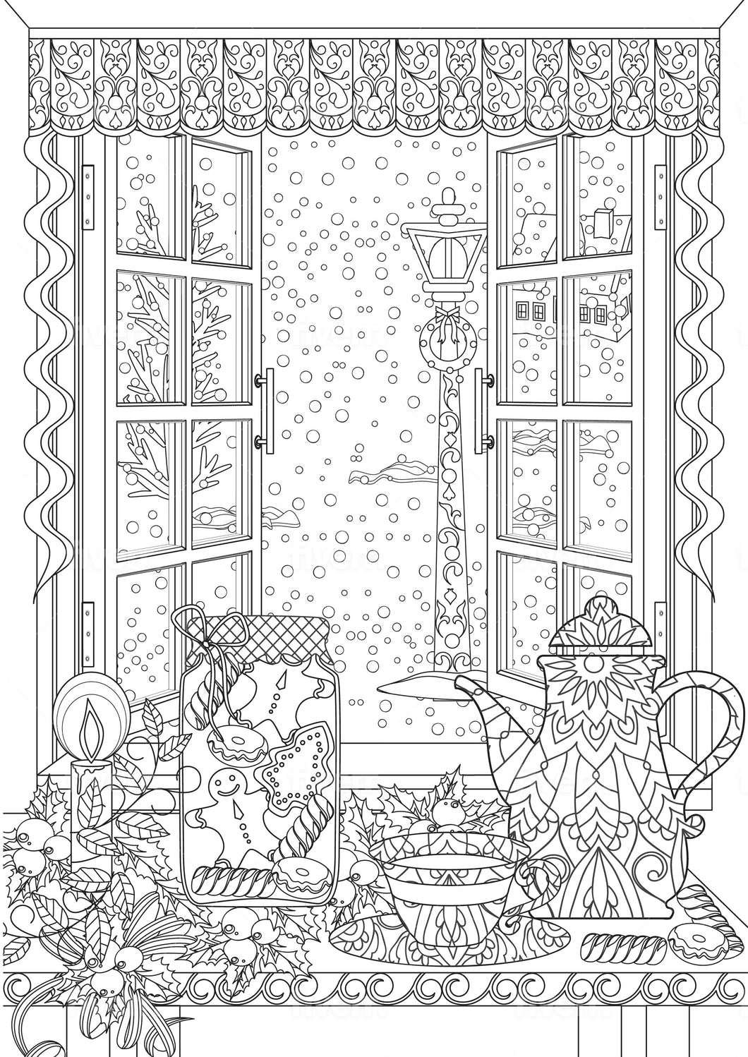 Christmas #1 Coloring Sheet