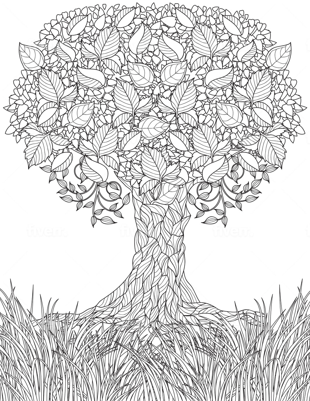 Tree Coloring Sheet - Goin Postal Brentwood