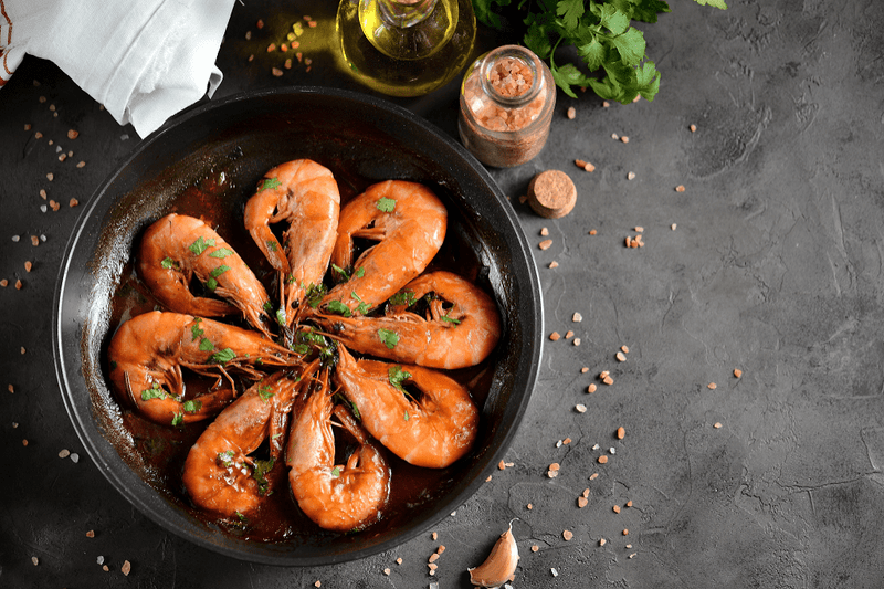 Whole Cooked Extra Large Prawns 1KG FROZEN