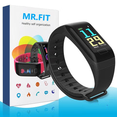 Mr. Fit Tracker - Colored Display Fitness Band and Activity Tracker with Pedometer, Heart Rate Sensor, Blood Pressure Monitor, SPO2, Camera and Music Control( 5 Years Warranty )