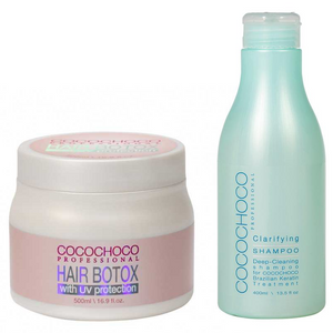COCOCHOCO Hair Botox Treatment with UV protection 500 ml + Clarifying Shampoo 400 ml