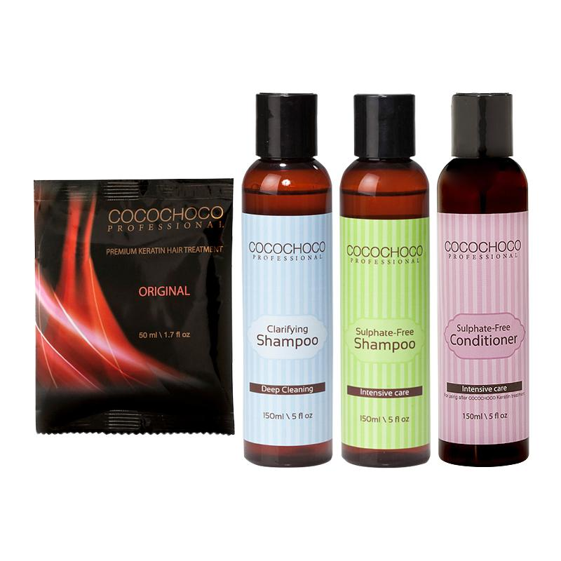 COCOCHOCO Original Brazilian Keratin 50 ml +Clarifying + Sulphate-Free Shampoo + Conditioner 150 ml