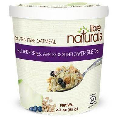 Oatmeal:  Blueberries, Apples and Sunflower Seeds