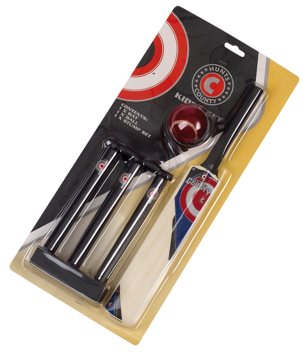 Hunts County Mini Bat, Ball & Stumps Set - The Incredible Cricket Company