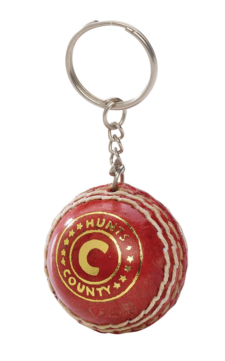 Hunts County Mini Ball Keyring - The Incredible Cricket Company
