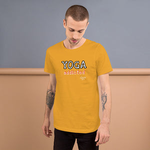YOGA ADDICTED MEN Short-Sleeve Unisex T-Shirt - SPIRITUALRIVER