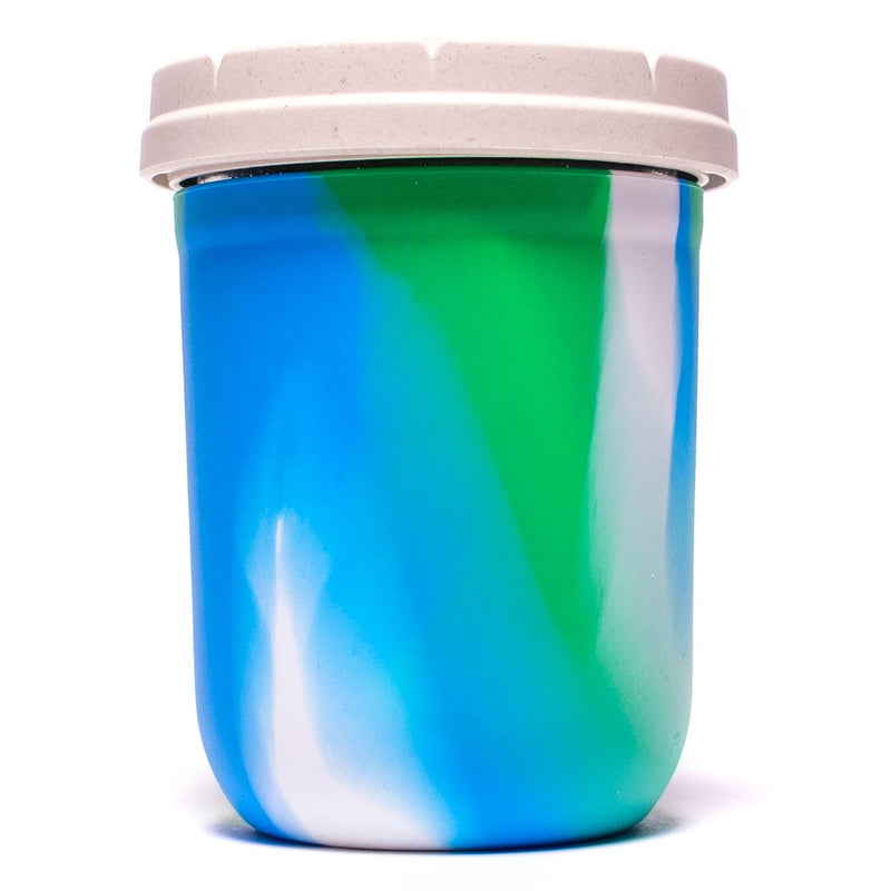 Re:Stash - Ocean Tie Die Jar w/ White Lid - 16oz
