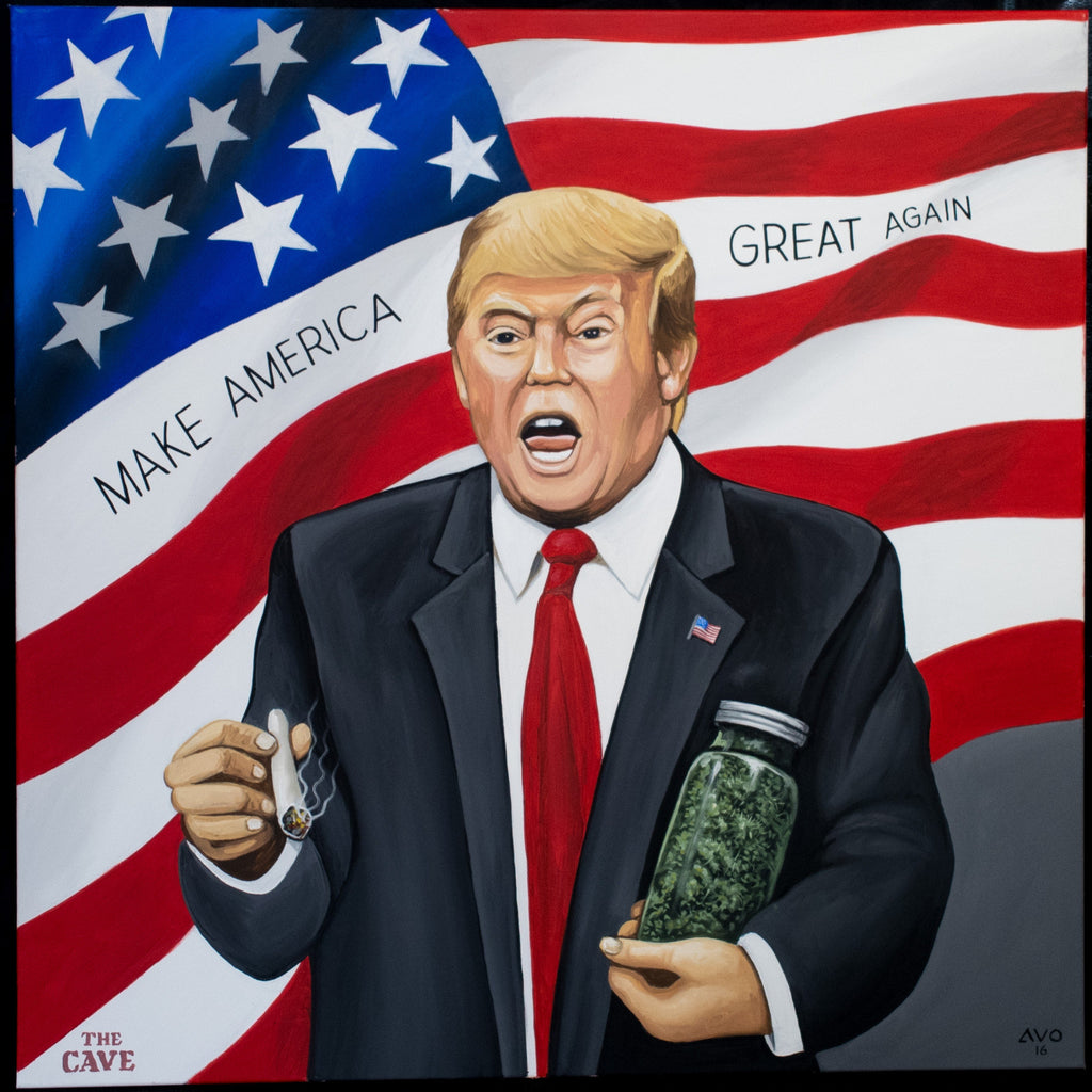 Donald Trump Painting Quot Make America Dank Again Quot 36x36