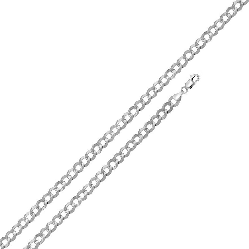 Sterling Silver - 5.7mm Flat Curb Chain - 26""