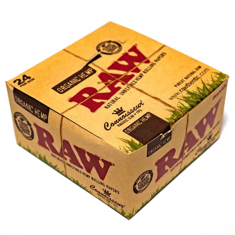RAW - King Size Organic Connoisseur - 24 Pack Box