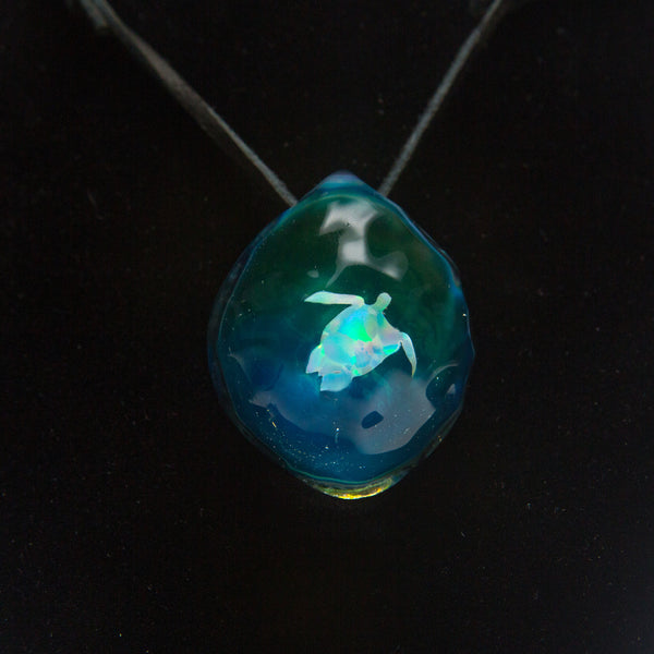 Northern Lights Water Pendant Turtle The Cave