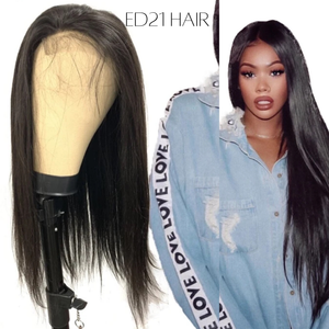 ED21 Straight HD Transparent Lace Front Closure Wig