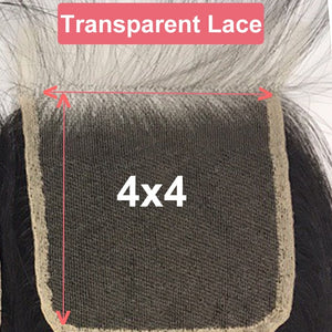 ED21 HD Transparent Lace Closure Straight
