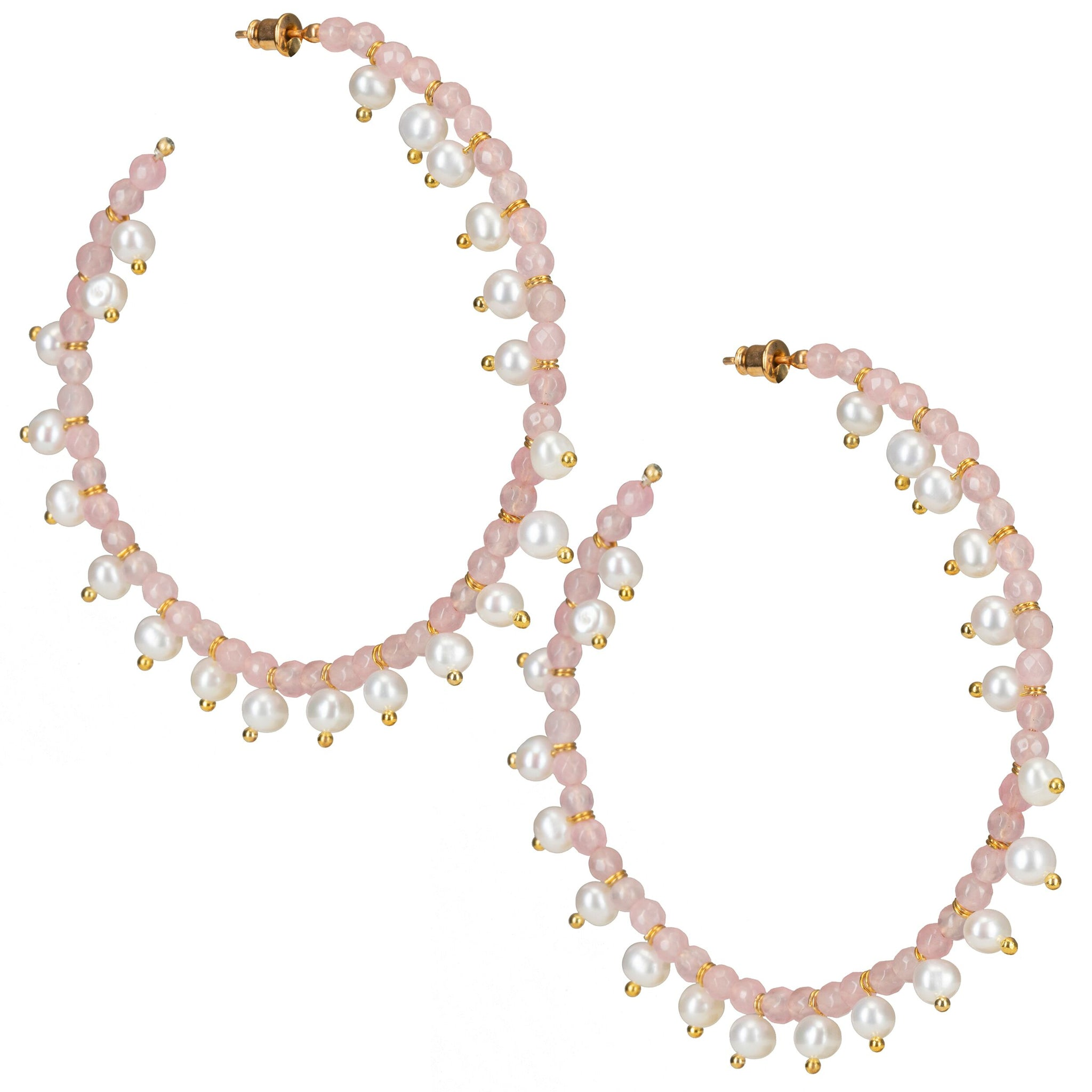 Ava Hoops Pink
