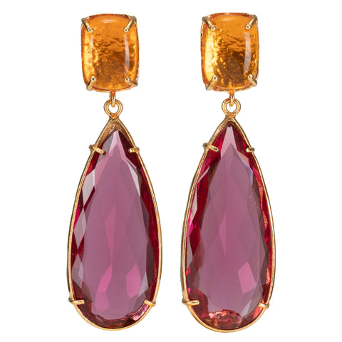 Franca Earrings Amber