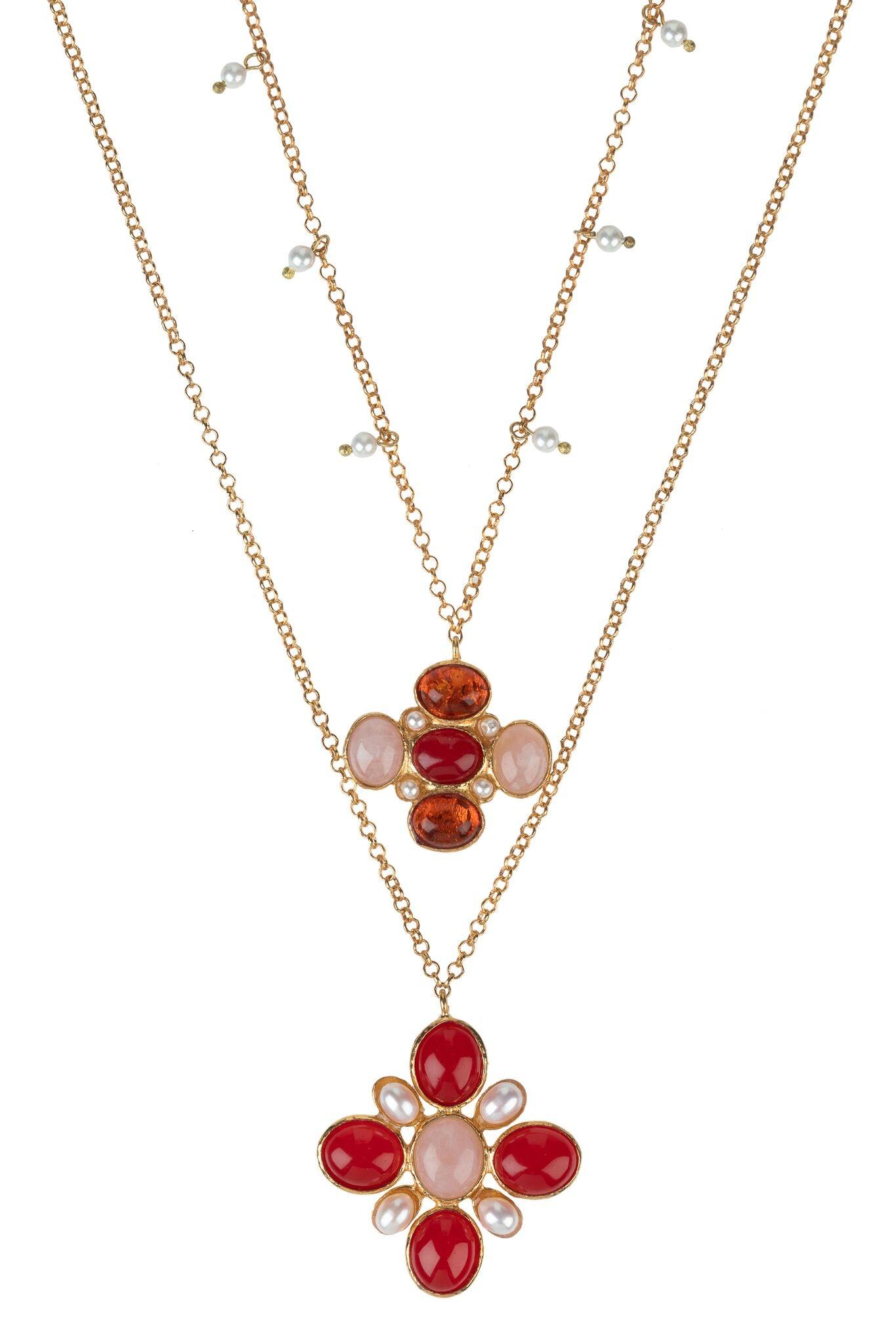 Salma Necklace Set Red