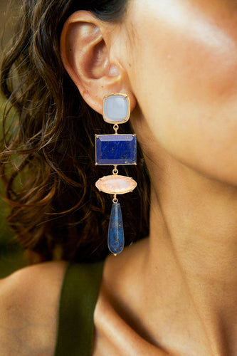 Esmeralda Earrings Blue