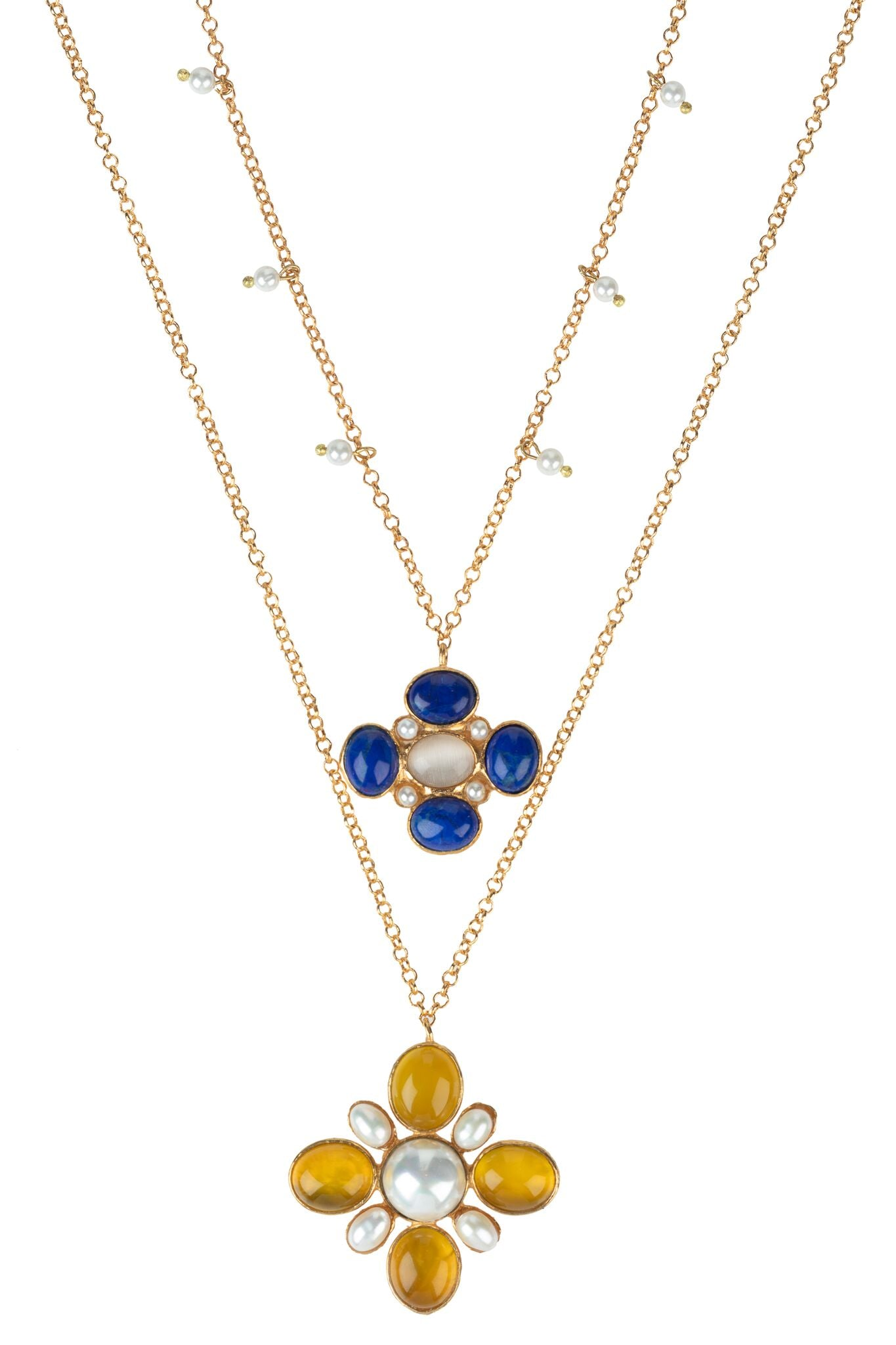 Salma Necklace Set Blue