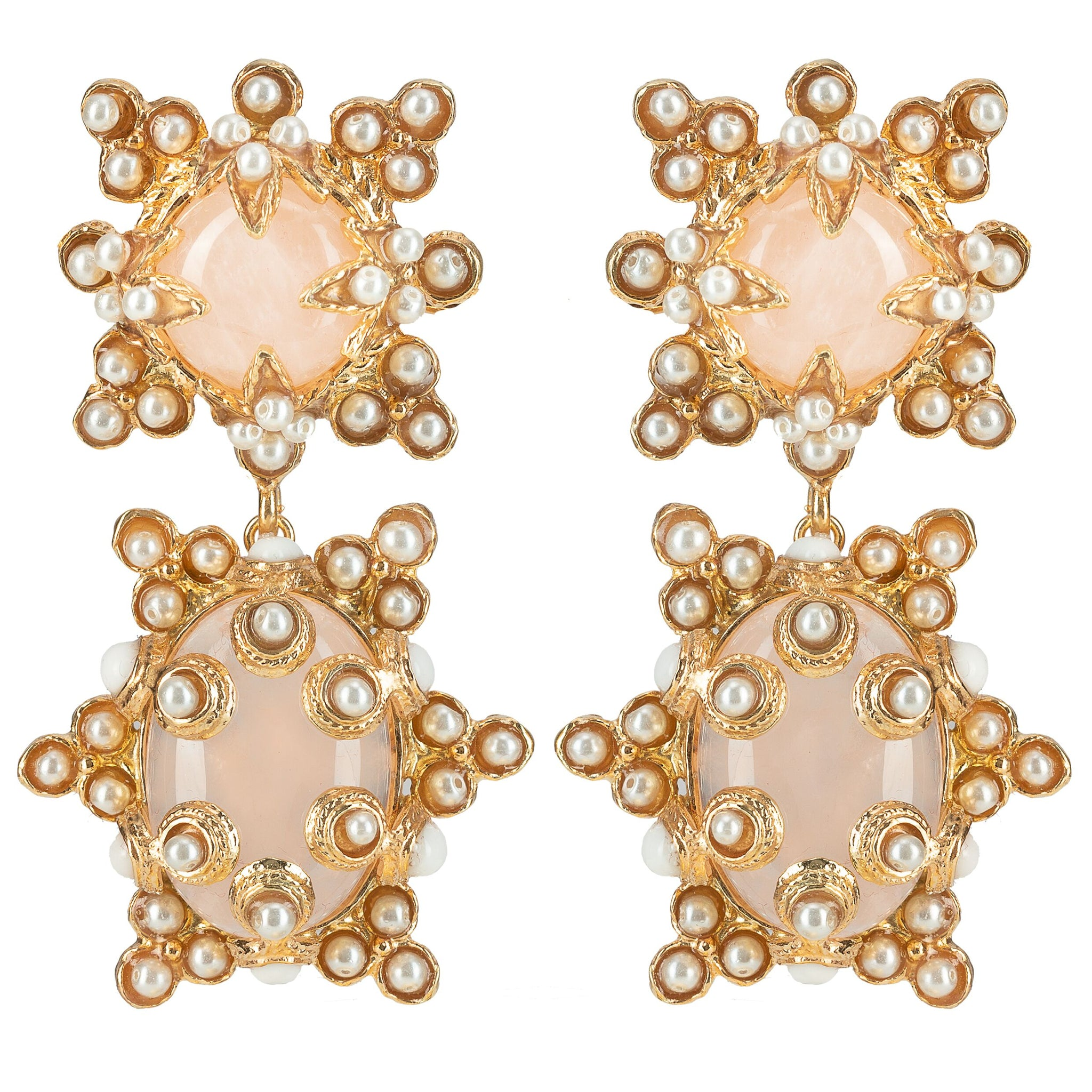 Lucia Earrings Pink