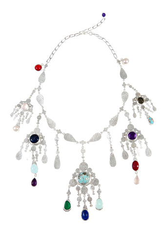 Bianca Necklace Silver/Multi
