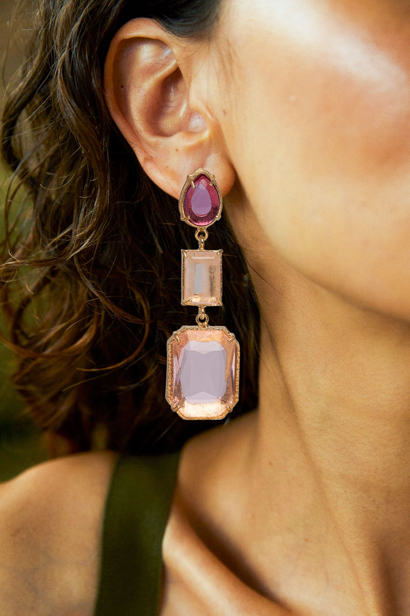 Eleonora Earrings Pink
