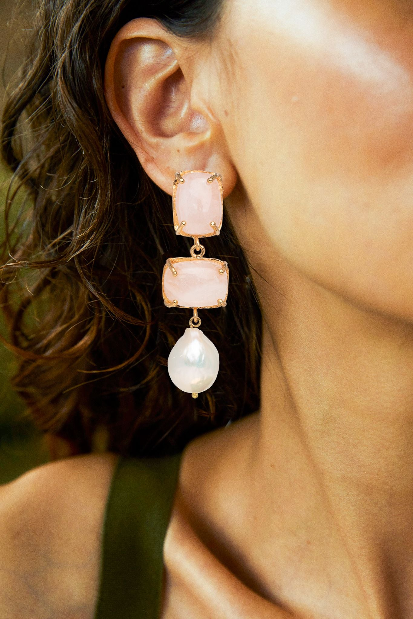 Loren Earrings Pale Pink