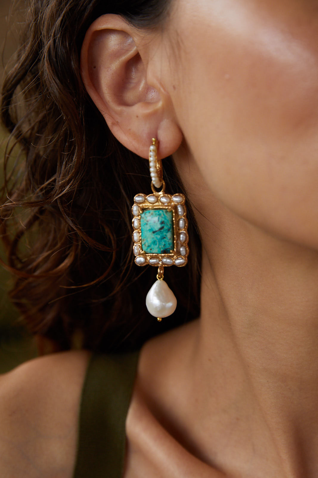 Aurelia Earrings Turquoise