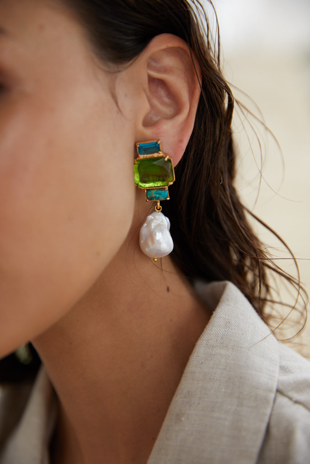 Bambina Earrings Green
