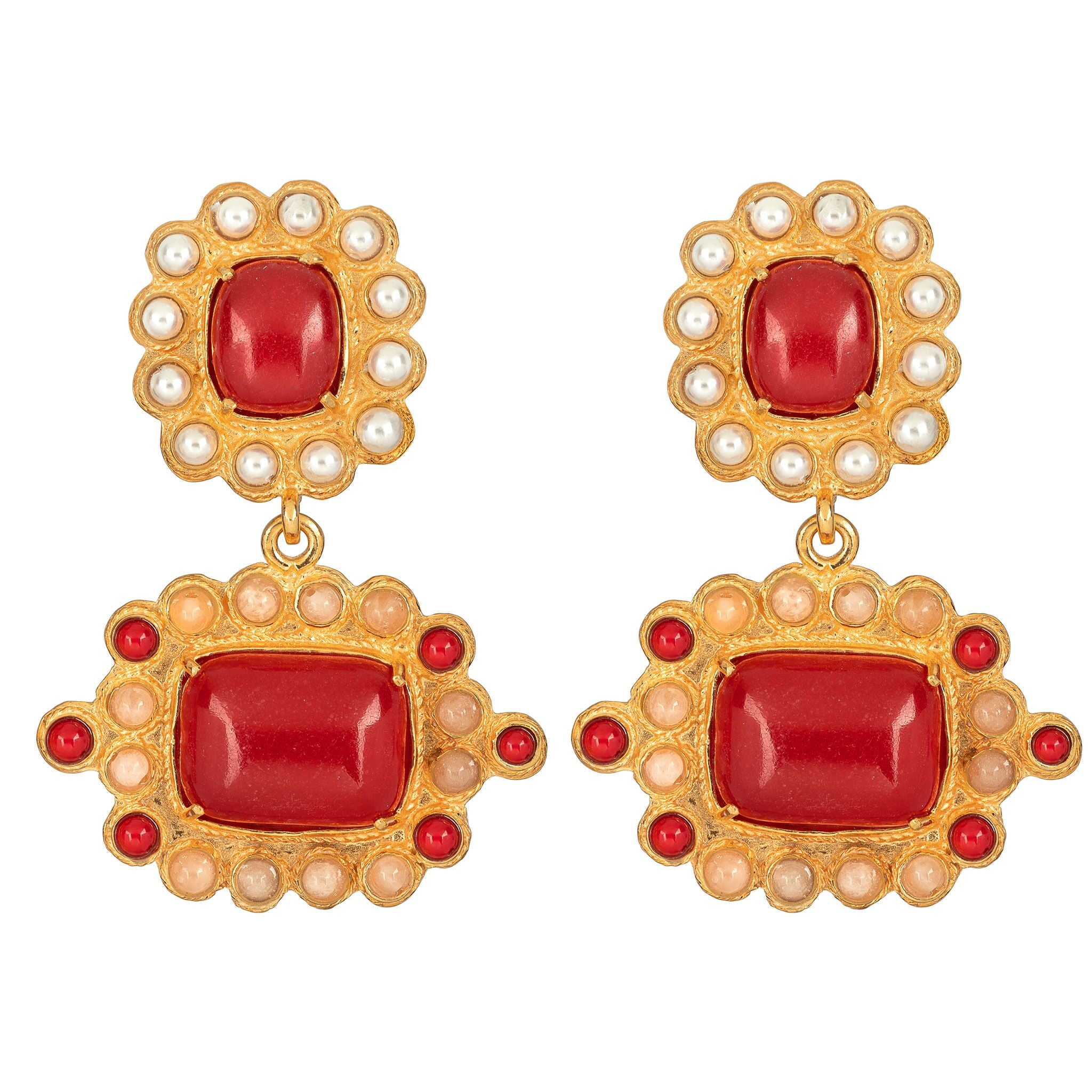 Nina Earrings Red
