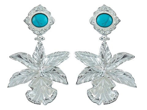 Aniella Earrings Silver/Turquoise