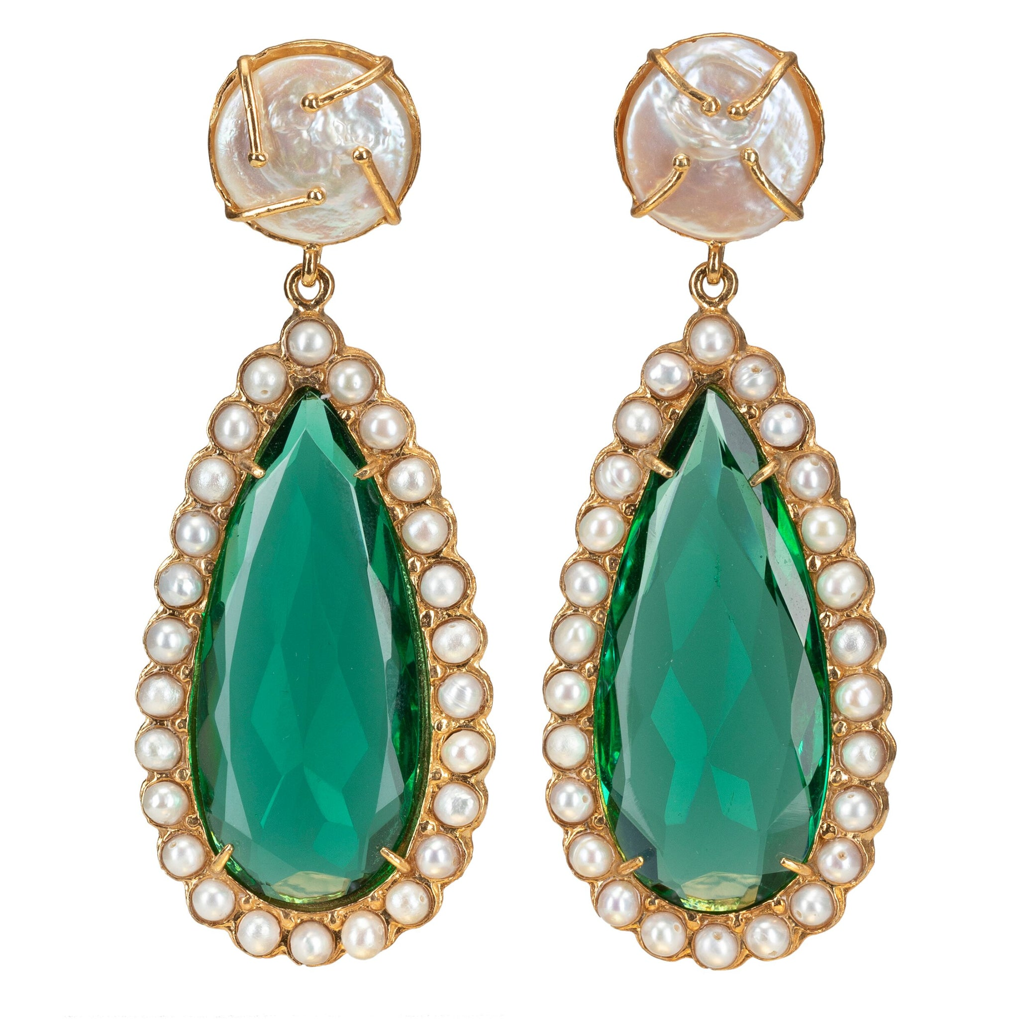 Grazia Earrings Green
