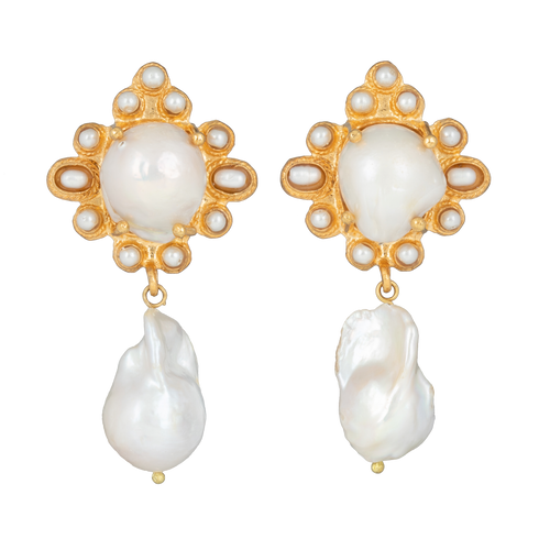 Amalita Earrings Pearl