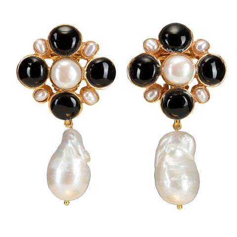 Margot Earrings Black