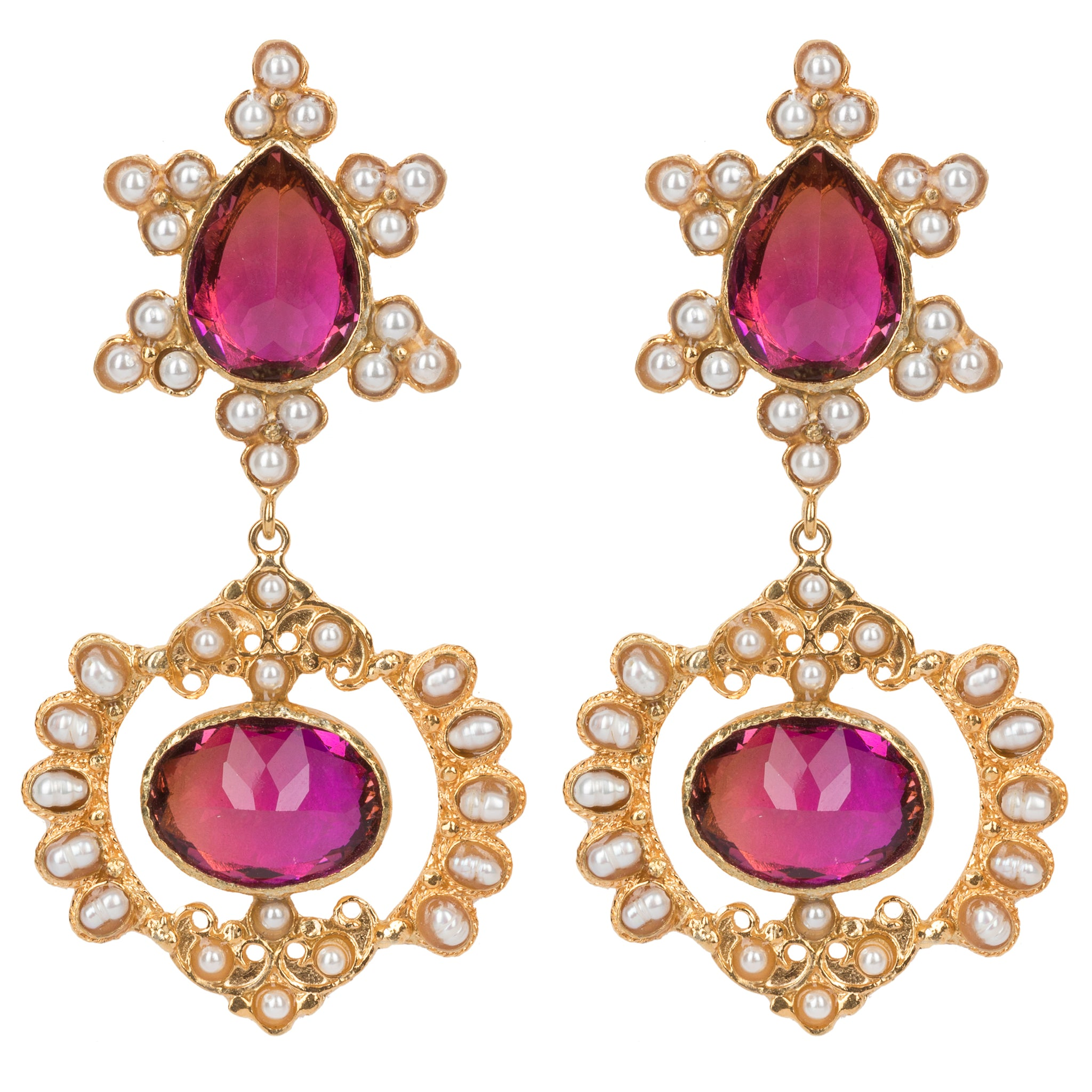 Zoe Earrings Sunset Crystal
