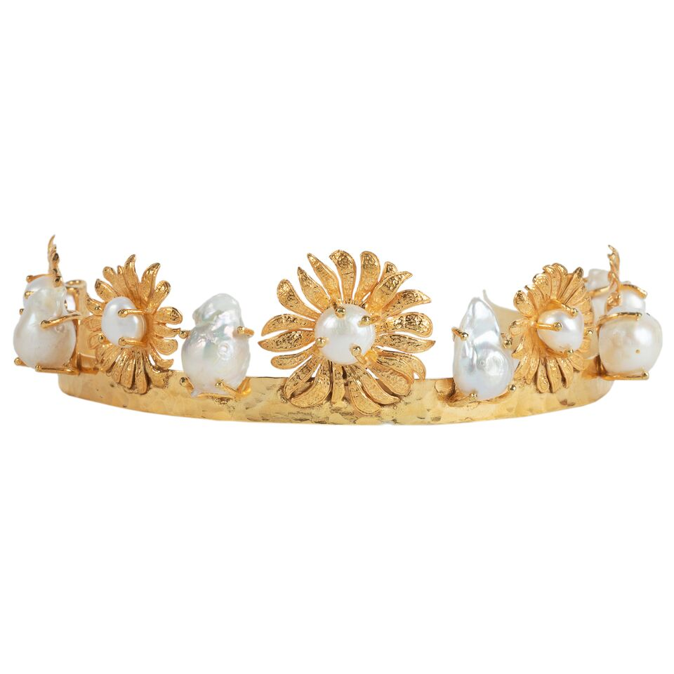 Camelia Crown Gold/Pearl