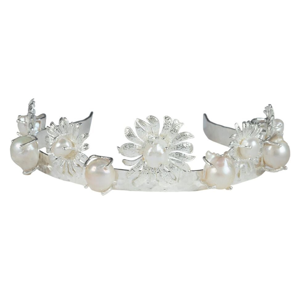 Camelia Crown Silver/Pearl